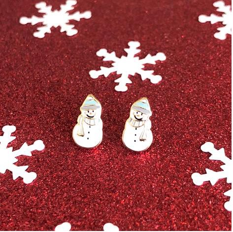 Snowman Prep Obsessed Earrings