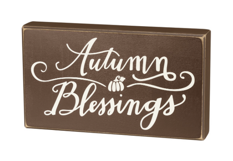 Box Sign - Autumn Blessings