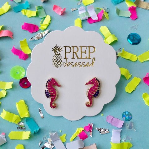 Seahorse Prep Obsessed Earrings