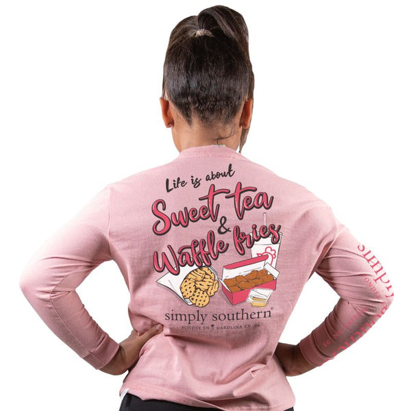 Youth Sweet Tea & Waffle Fries Long Sleeve Tee