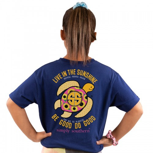"Youth ""Live in the Sunshine"" Sea Turtle Short Sleeve Tee"