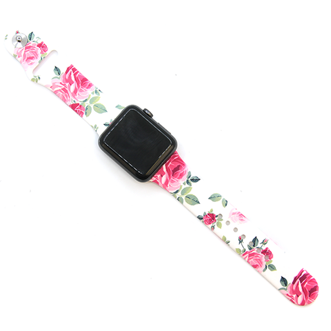 Watch Band - Roses White