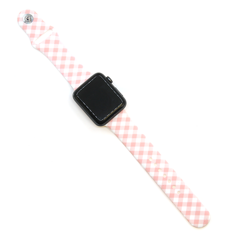 Watch Band - Plaid Pink