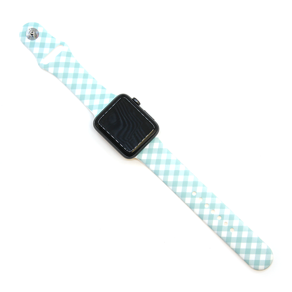 Watch Band - Plaid Turquoise
