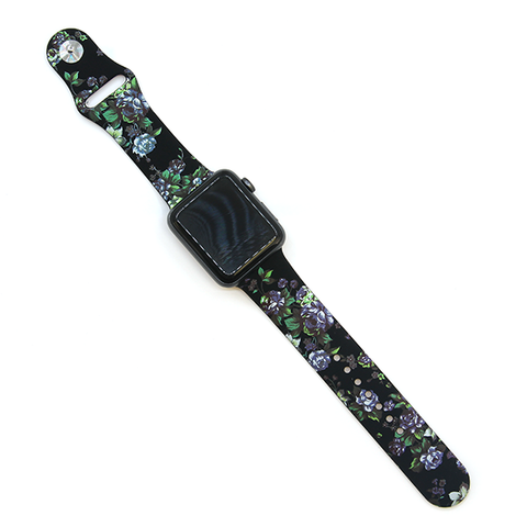 Watch Band - Black Floral