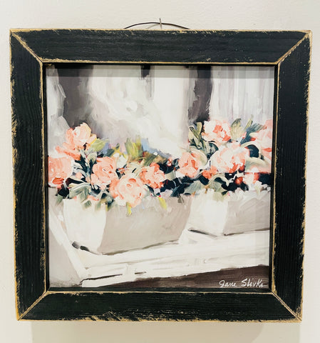 Pink Floral Window Sign