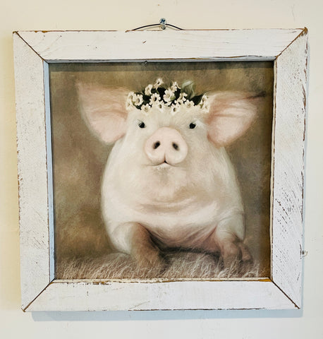 Painted Piggy Sign