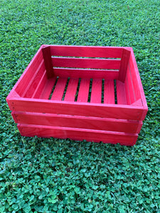 Red Wooden Crate - Large