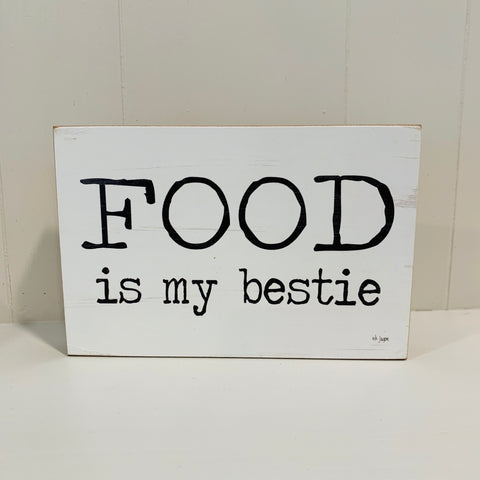 Food Bestie Block Sign