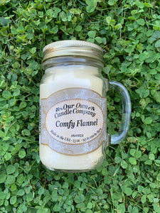 Comfy Flannel Mason Candle