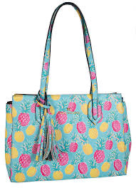 Leather Purse - Pineapple