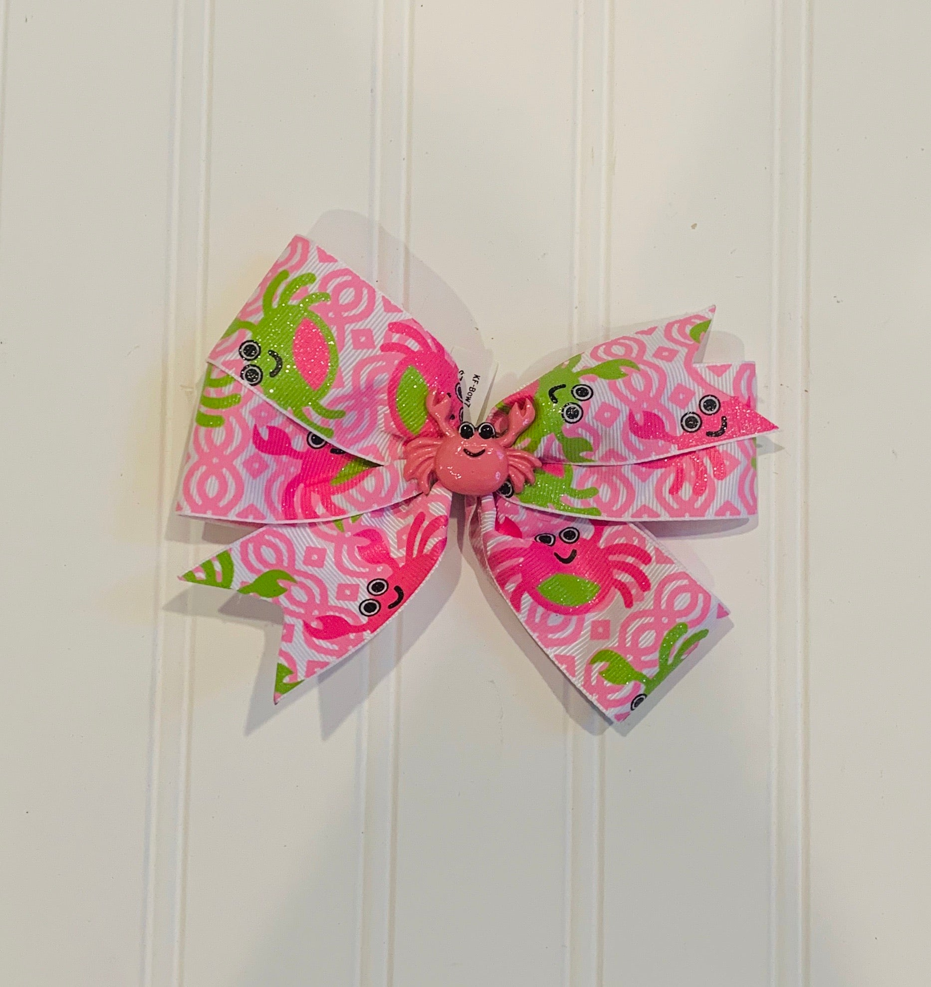 Pink Crab Bow
