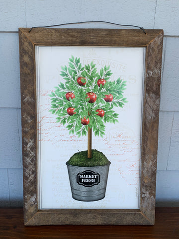 Apple Topiary Sign