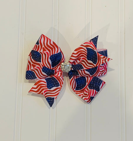 American Flag Bow (cleat center)