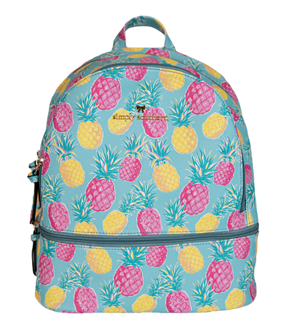 Leather Bookbag - Pineapple