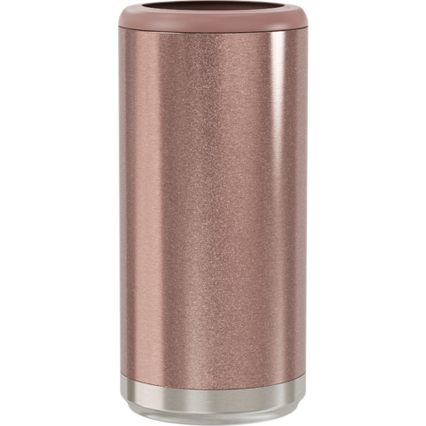 Skinny Can Cooler - Glitter Rose Gold