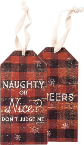 Bottle Tag - Naughty