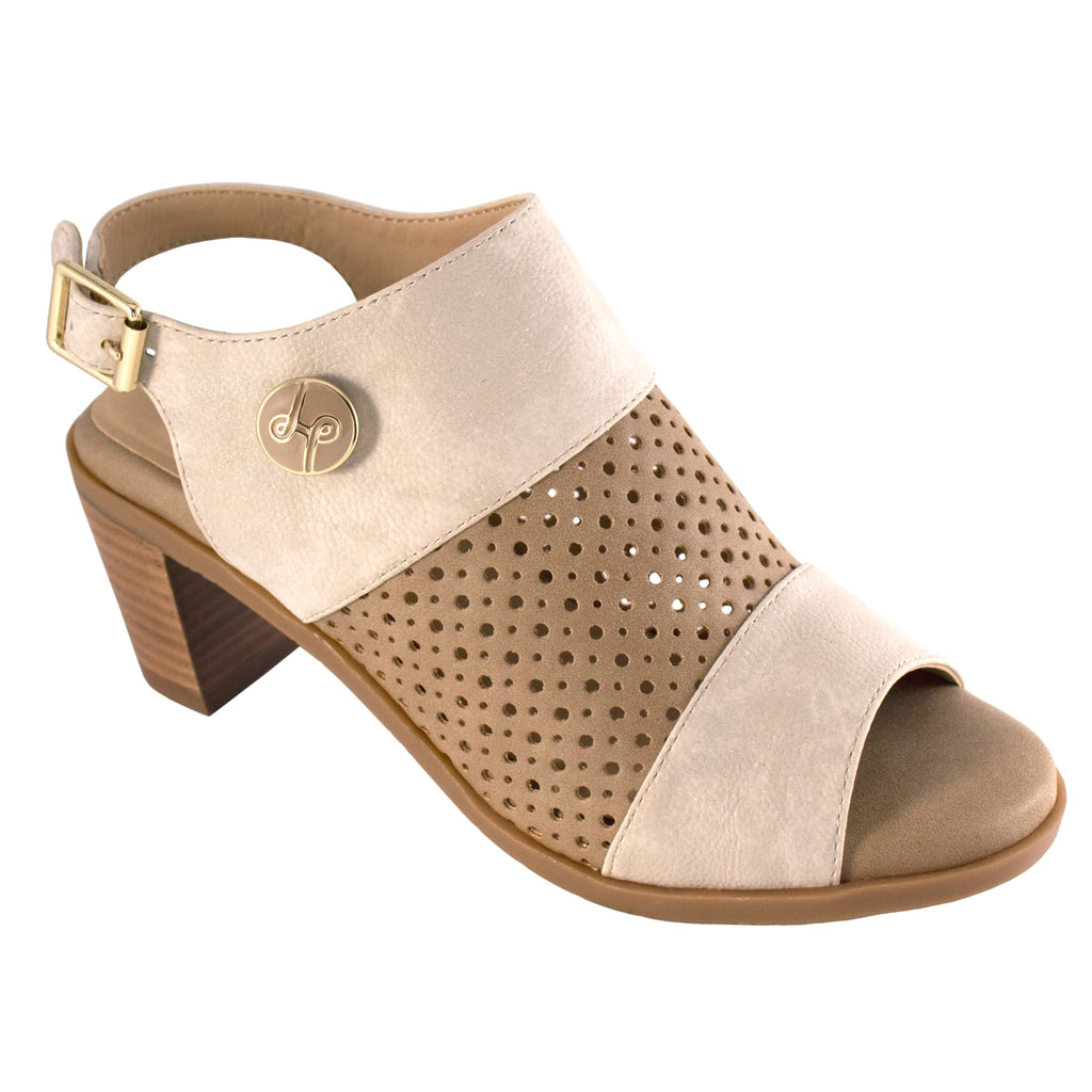 Elise Neutral Peep-Toe Bootie