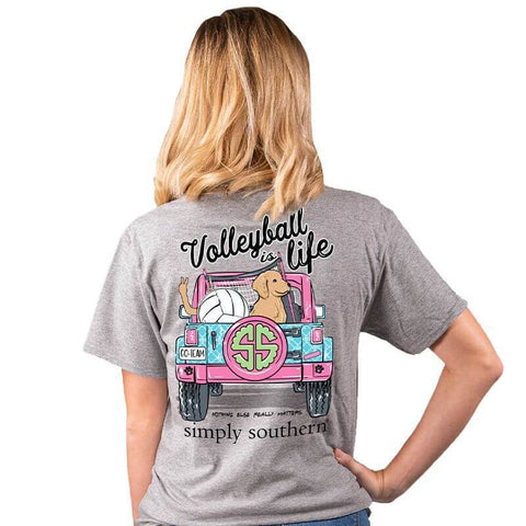 "Adult ""Volleyball is Life"" Short Sleeve Tee"