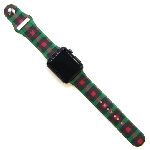 Watch Band - Christmas Plaid