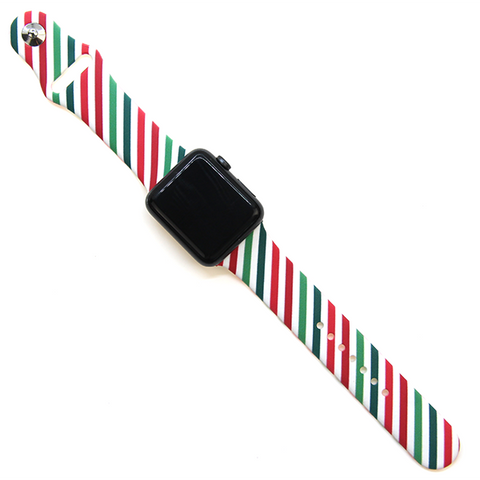 Watch Band - Christmas Stripes