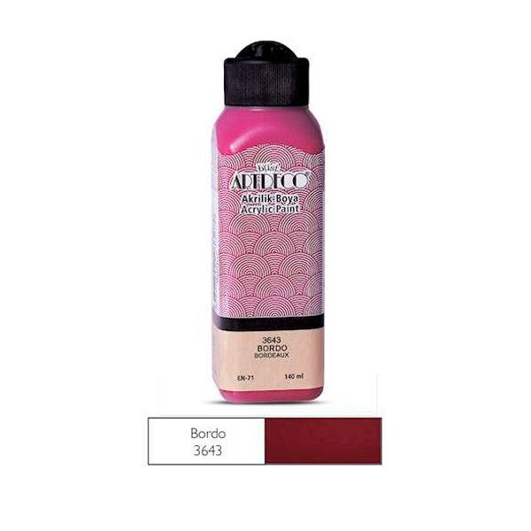 Artdeco Akrilik Boya 140ml Bordo