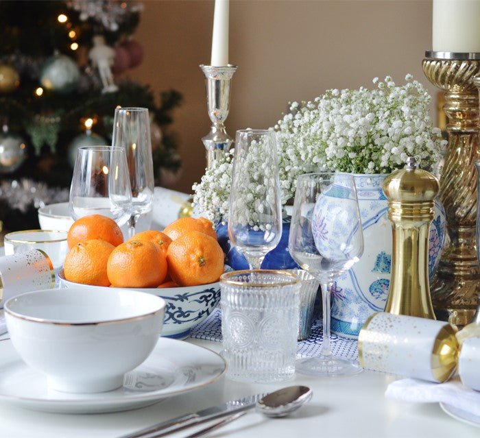 Table dressing for Christmas