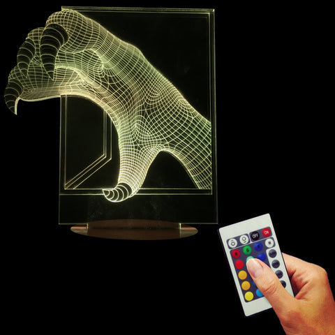 3D Dragon Claw Optical Led Night Light