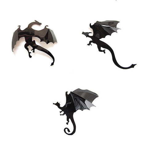 Gothic 3D Dragon Decoration Wall Stickers