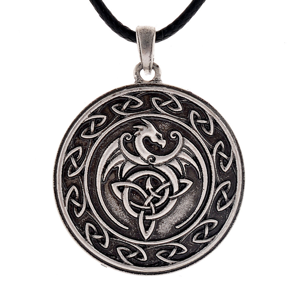 Celtic dragon pendant necklace the dragons throne celtic dragon pendant necklace aloadofball Choice Image
