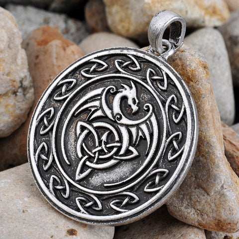 Celtic Dragon Pendant Necklace