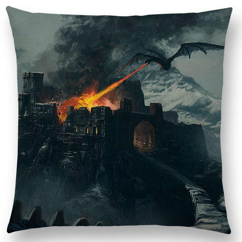 Dragon Powerful Warrior Sofa Pillow Case