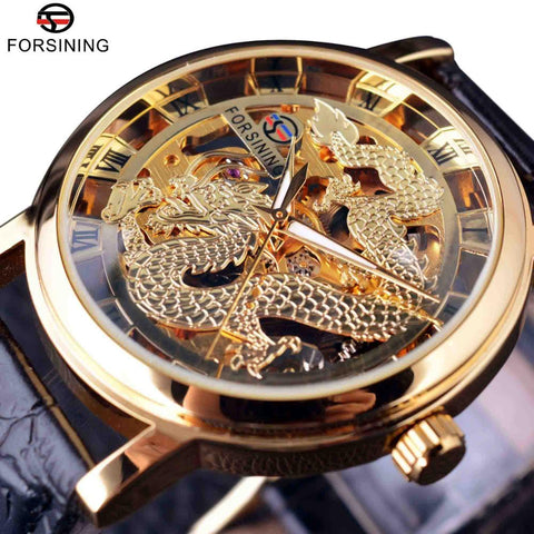 Chinese Dragon Skeleton Transparent Watch