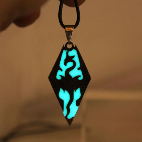 Glowing Dragon Pendant Necklace Amulet