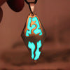 Image of Glowing Dragon Pendant Necklace Amulet