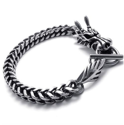 Stainless Steel Men's Dragon Bracelet