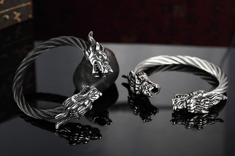 Twisted Cable Bangle Stainless Steel Dragon Bracelet