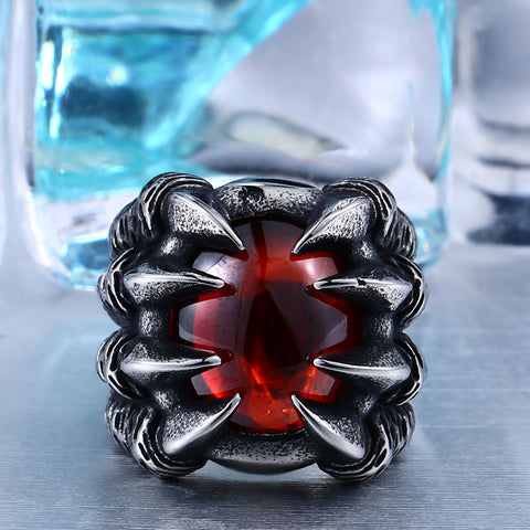 High Quality Heavy Metal Dragon Claw Ring