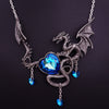 Image of Crystal Heart Charms Dragon Choker