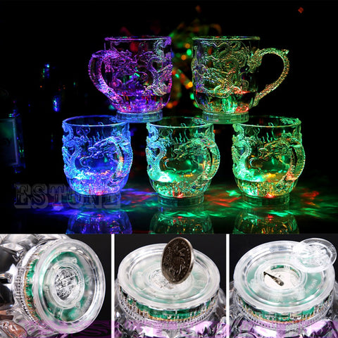 LED Dragon Inductive Rainbow Color Flashing Light Cup
