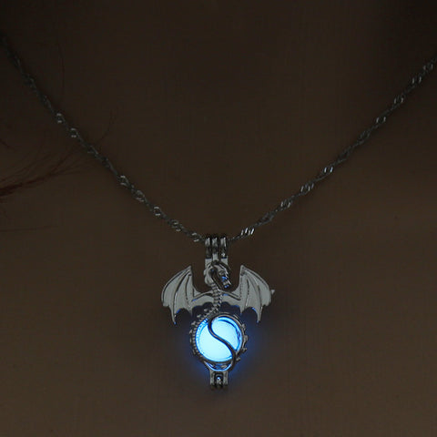 Retro Ancient Dragon Glow in the Dark Necklace