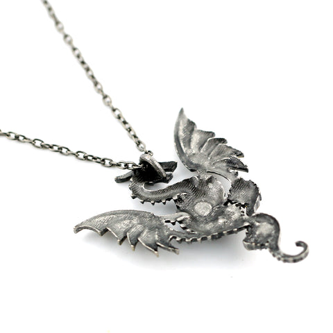 Steampunk Gear Dragon Necklace