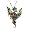 Image of Steampunk Gear Dragon Necklace