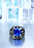 Image of Dragon Claw Ring With Red/Blue/Light Blue/Black Stone