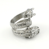 Image of Double Dragon Head Stainless Steel Ring