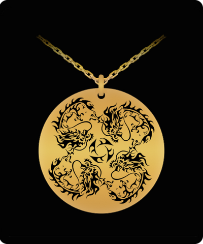 Dragon Laser Engraved Necklace