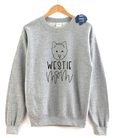 Westie Mom Crewneck Sweater