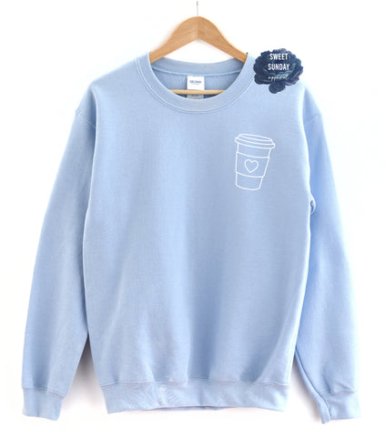 Coffee Cup (Left Chest) Crewneck Sweater