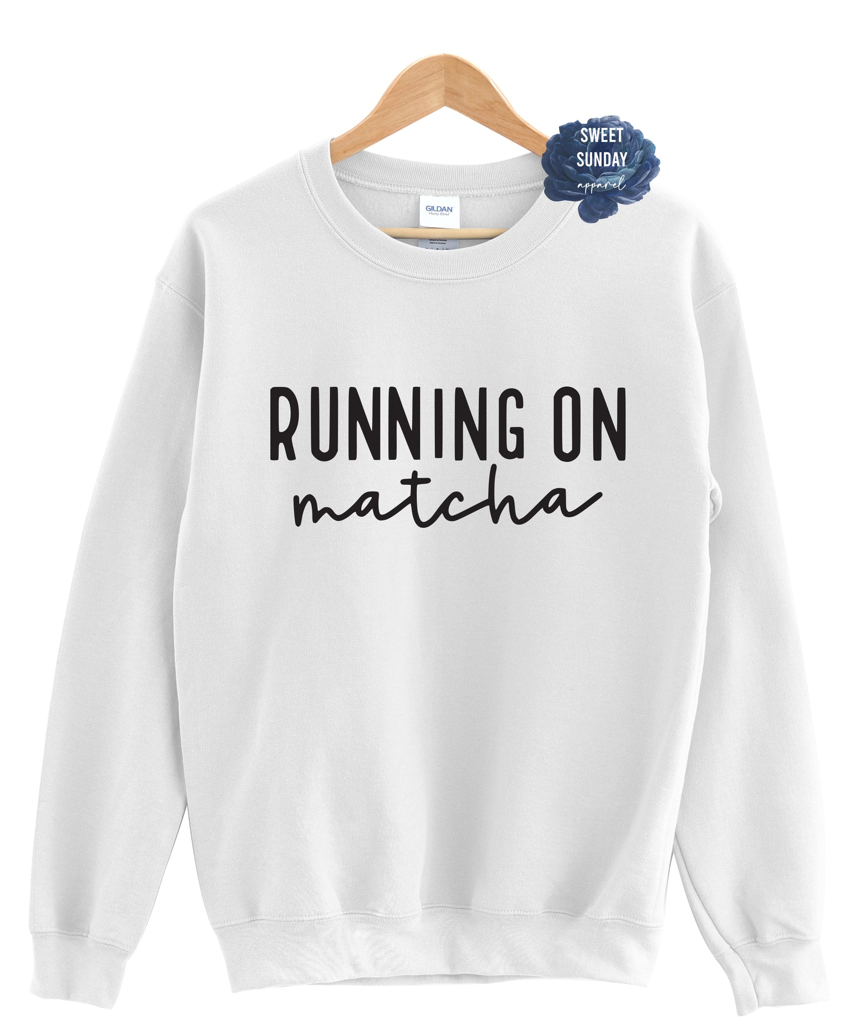Running On Matcha Crewneck Sweater