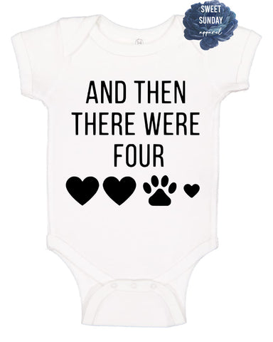 And Then There Were Four Infant Onesie